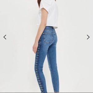 Topshop Moto Jamie Skinny High Waisted Jeans sz25